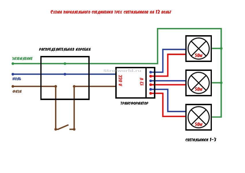 Использование трансформатора при подключении потолочных светильников