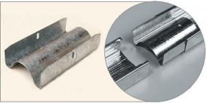 Соединитель продольный ипользуется для продольного соединения или наращивания CD профилей при монтаже каркаса стены и подвесного гипсокартонного потолка