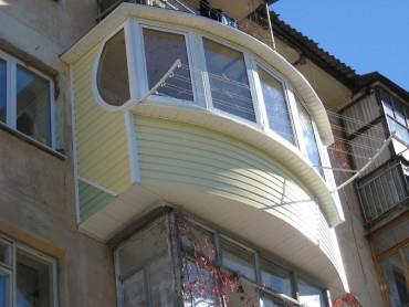 Внешняя облицовка балкона