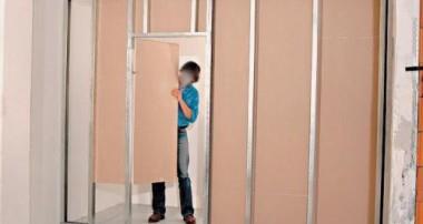 Монтаж перегородки с дверью из гипсокартона своими руками