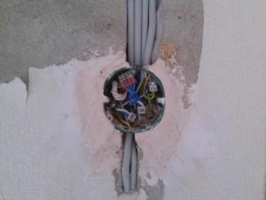 Штробление под кабель