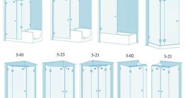 Какиех размеров бывают душевые кабинки: стандартные и угловые