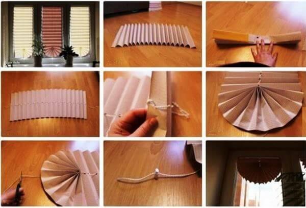 пошаговая инструкция по изготовлению бумажных жалюзи