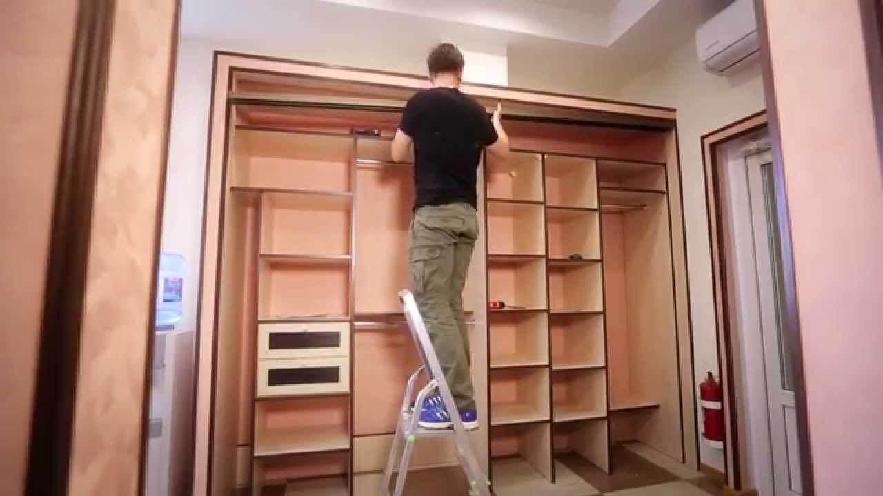 Последовательность монтажа встроенного шкафа-купе