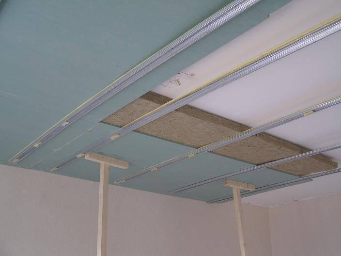 Звукоизоляция потолков из гипсокартона