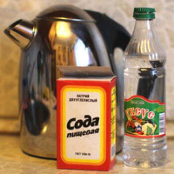 чистка чайника содой и уксусом